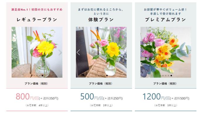 ブルーミーライフのお花の定期便 料金