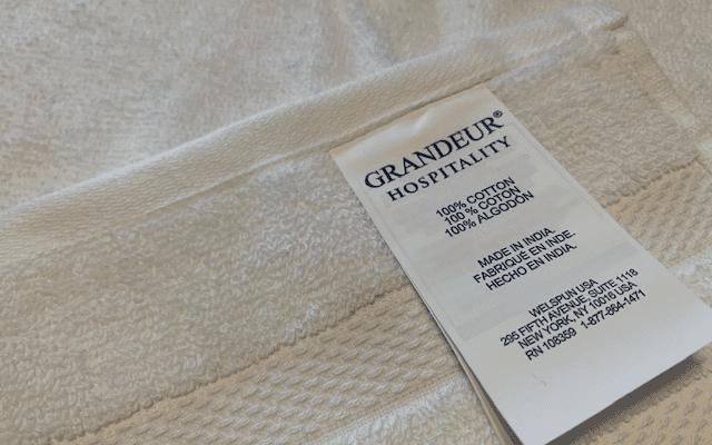 コストコの グランドールのタオル
